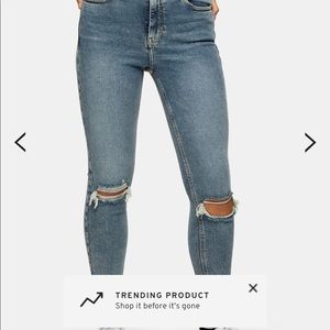 TOPSHOP Jamie Ripped Jeans size 26